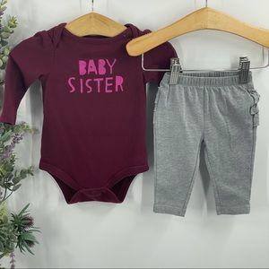 Cat & Jack   Baby Sister Onesie, Grey Ruffle Pants